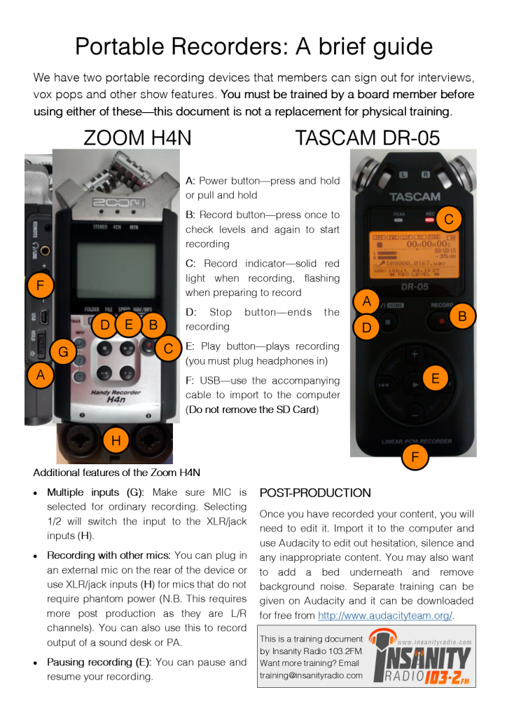 A guide to Portable Recorders